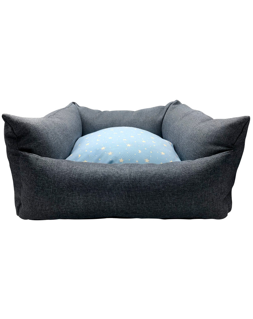 blue bed – blue cushsion01