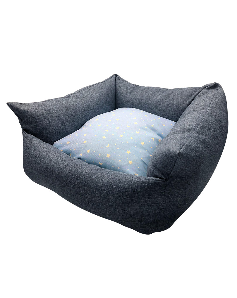 blue bed – blue cushsion02