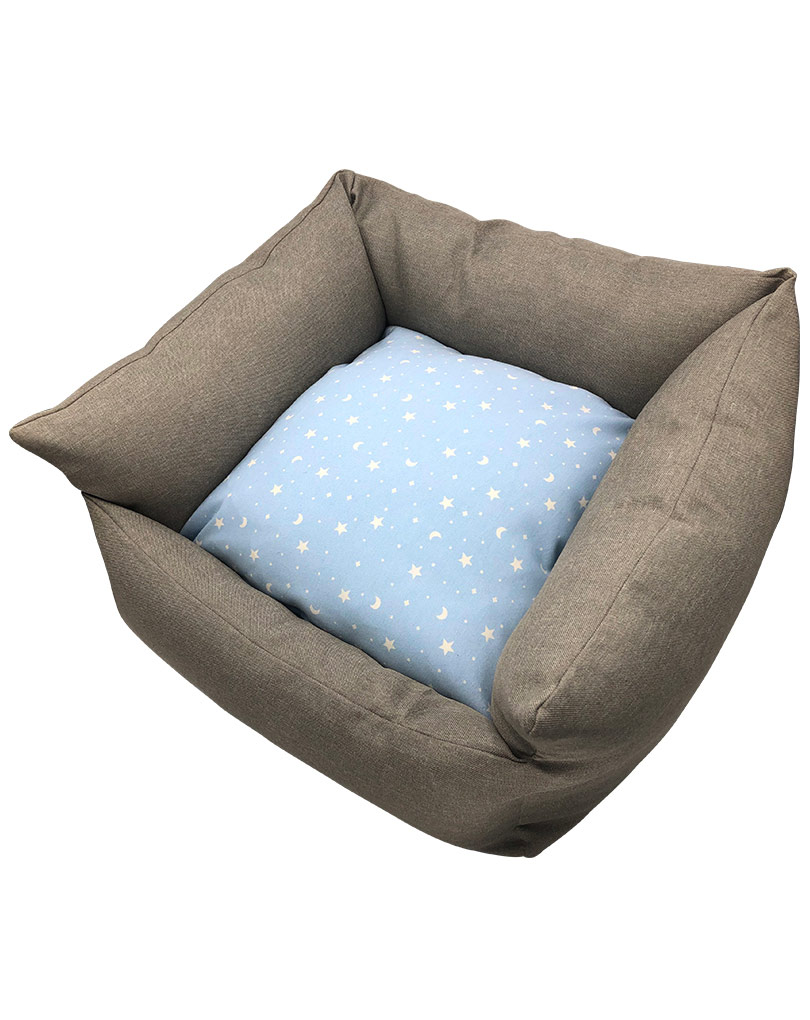 gray bed – blue cushion 02