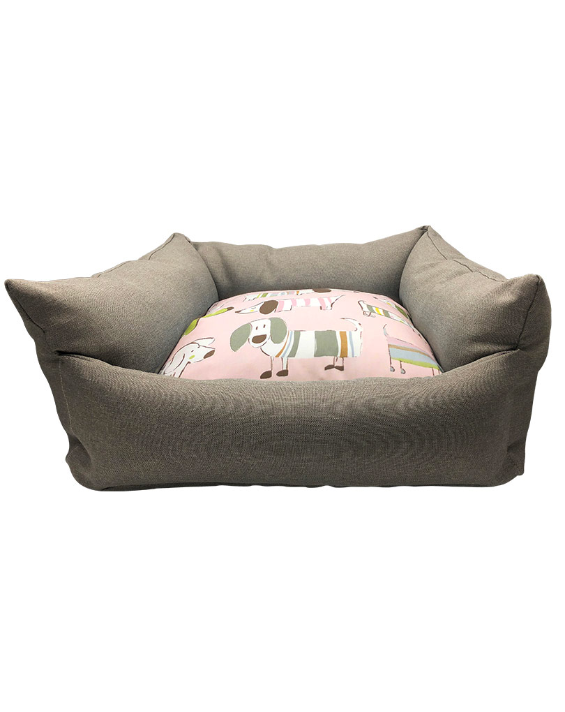 gray bed – pink cushion 01